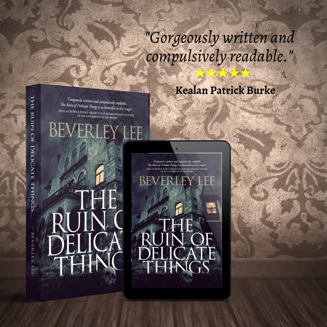 Paperback and e-Book cover of The Ruin of Delicate Things